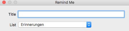 Reminder / Erinnerungen / TODOs per Hotkey in MacOS erstellen